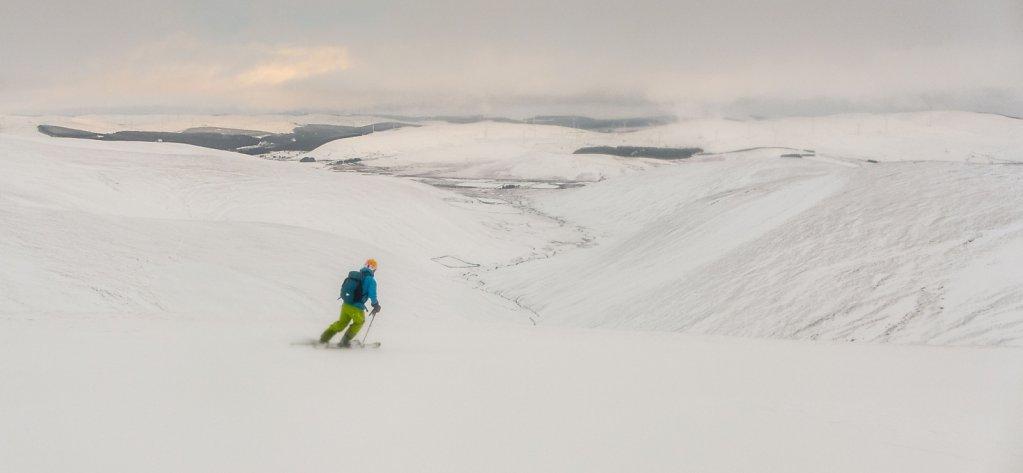 Wide open skiing