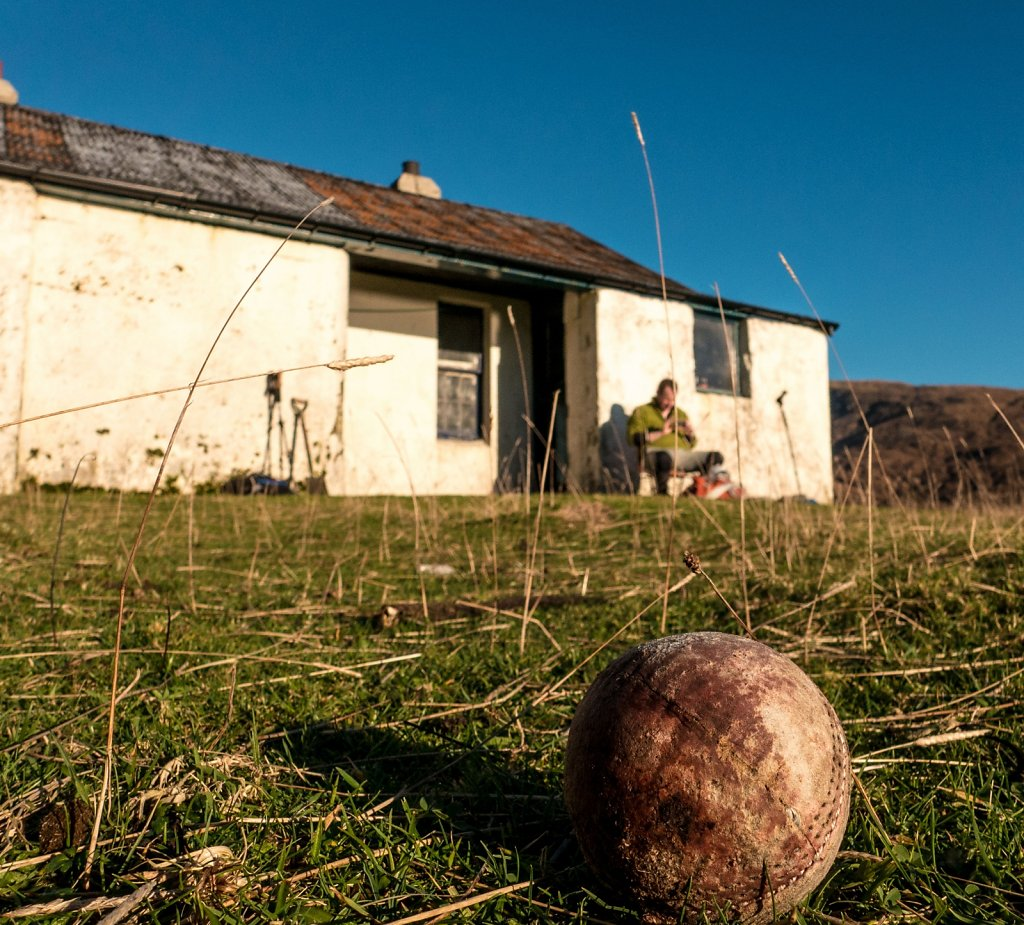 An old hurly ball