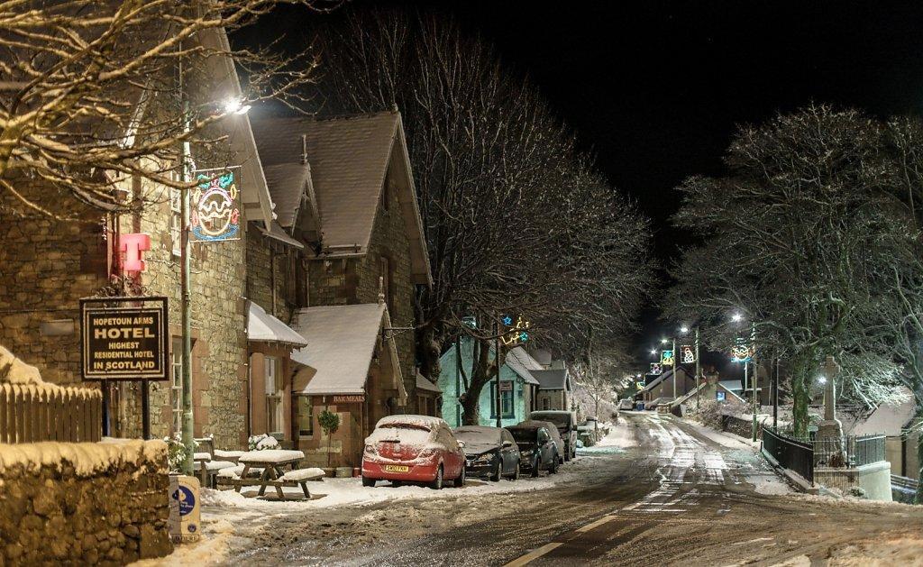 Leadhills village high street
