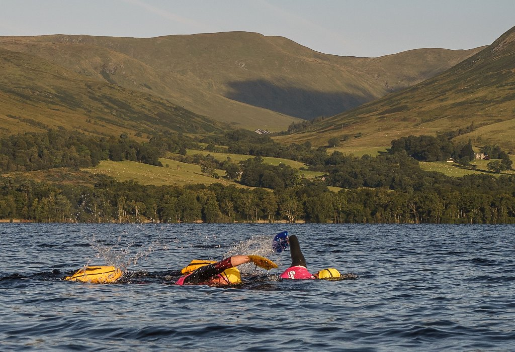 Swimmer on Loch Lomond
