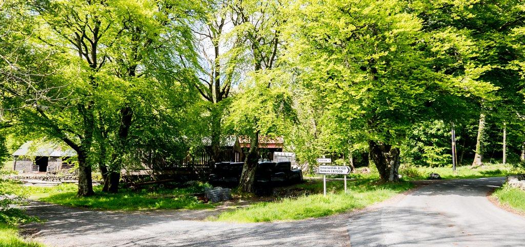Road junction at Ettrick