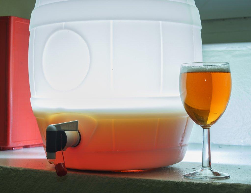 Beer in a barrel