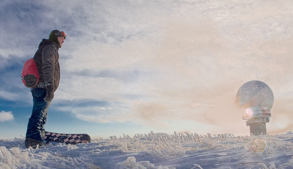 Chris on the summit