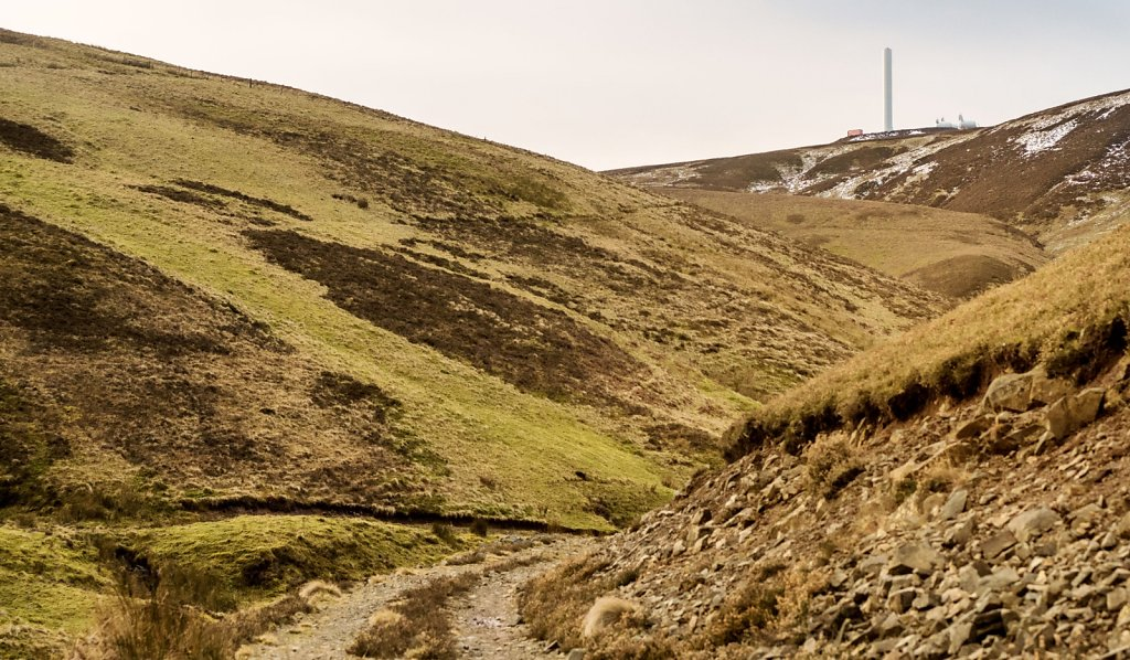 Turbine tower on Dod Hill