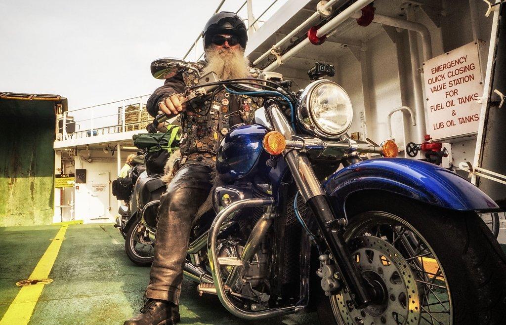 Ferry biker