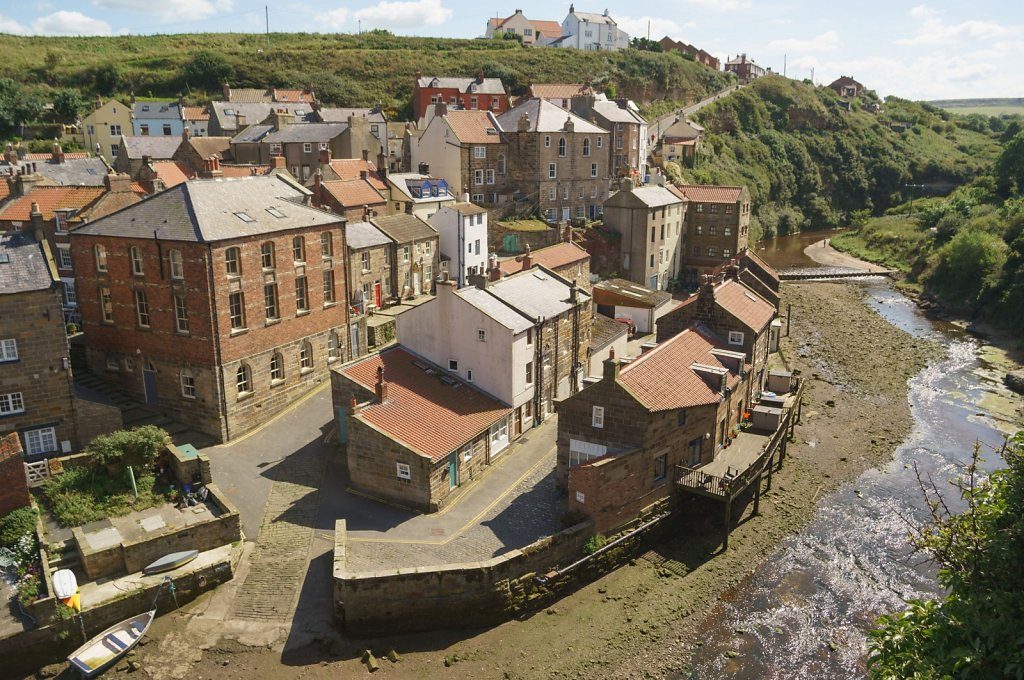 Staithes from above