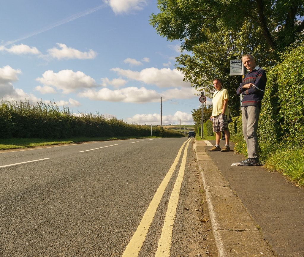 Waiting for the Runswick->Saltburn bus.