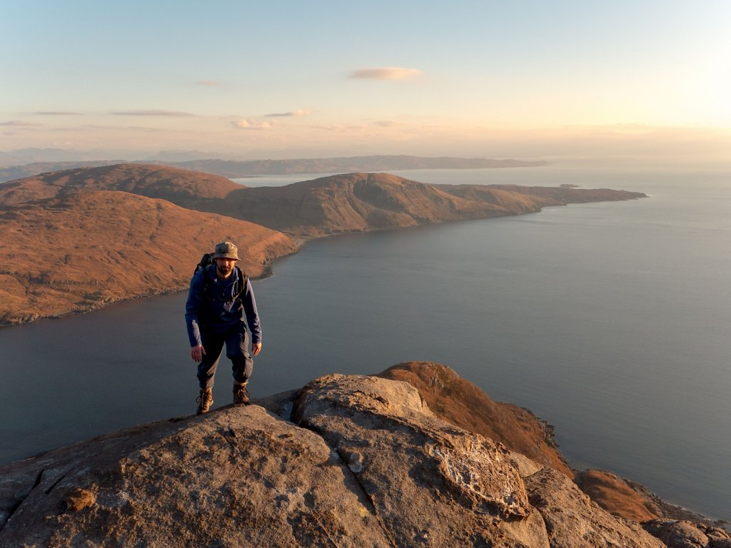 Strathaird and our start point at Elgol on the tip of the peninsula