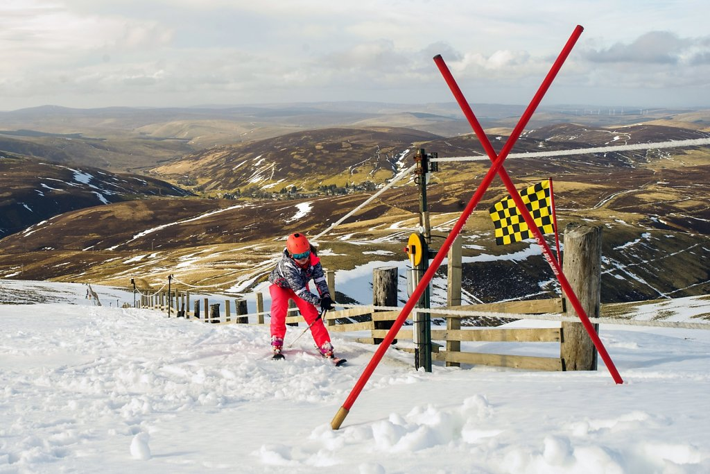 Top of Lowther Hill rope tow