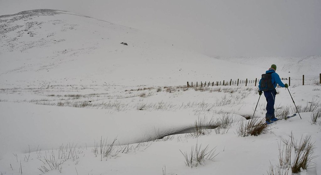 Heading towards the hill we'll ski
