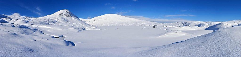 Loch Skeen panorama.